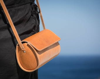 Leather crossbody bag Leather satchel bag Leather handbag Small purse Leather shoulder bag Handmade Gift for her