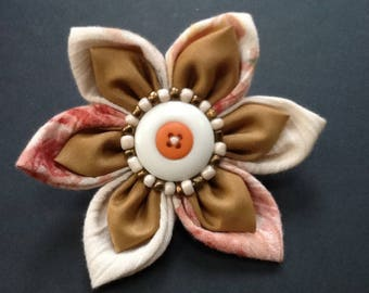Handmade fabric flower brooch,pin,corsage fashion for coat,hat,bag,scarf