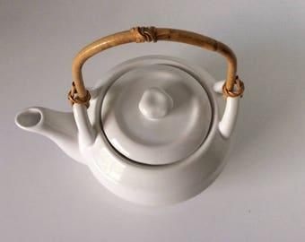 White Ceramic Teapot | WCL | China | Vintage