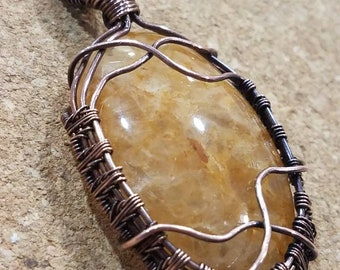 Oval Goldy Agate Pendant