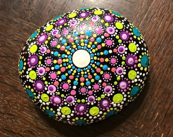 Hand Painted Mandala - Spring Dream
