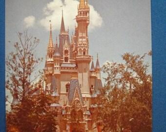 Amtrak Advertising Cinderella's Castle Disney World Postcard