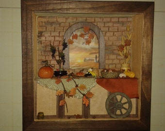 "Miniature roombox dolls house 1:12 scale ""autumn in Tuscany"""