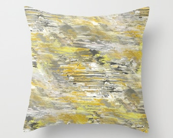 Yellow Grey Throw Pillow Cover Abstract Ombre Modern Home Decor Living room bedroom accessories Cushion cover Decorative Pillow Cover