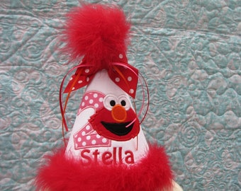 Elmo birthday hat, smash cake hat, birthday hat free personalization, 1st elmo birthday, 2nd birthday party hat, smash cake hat, elmo party