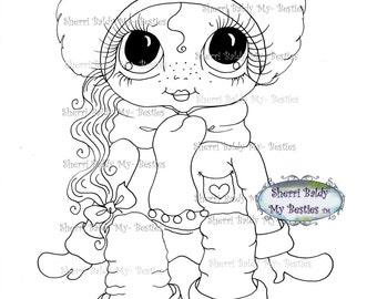 INSTANT DOWNLOAD Digital Digi Stamps Big Eye Big Head Dolls Messy Bessy IMG954 My Besties By Sherri Baldy