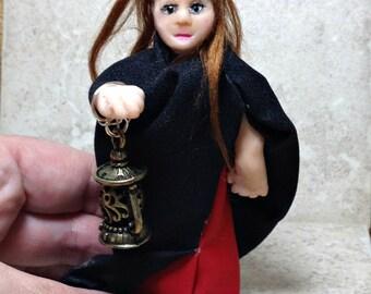 Polymer clay doll, Art clay doll, quest doll, sculpted clay doll, miniature doll