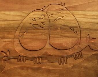 Love birds  cutting board