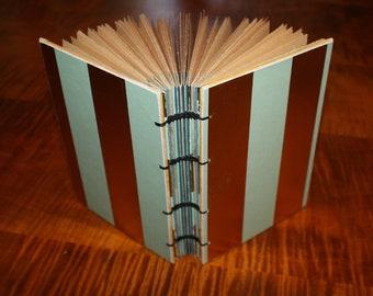 Blue and Gold Wedding Guest Book - Hostess gift - Recipe journal - handmade gifts, housewarming