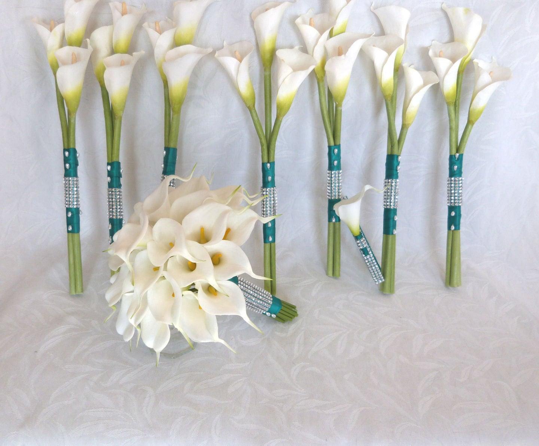 Calla lily wedding bouquet real touch mini white calla lily zoom izmirmasajfo Choice Image