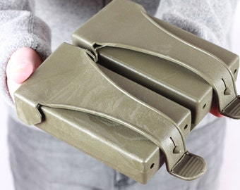 Military Bag, Vintage Waist Pouch, Camping Gear, Army Green Ammo Double Belt Pouch, Belt Bag, Belt Pouch, Double Pouch, Compass Holster