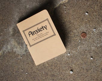 Anxiety Journal, Unmotivational Quote, Small Notebook