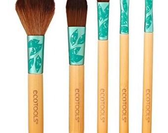 Ecotools Brushes/ Foundation Brush/ Blush Brush/ Powder Brush/ Flat Eyeliner Brush/ Lip Brush/ Makeup Brushes