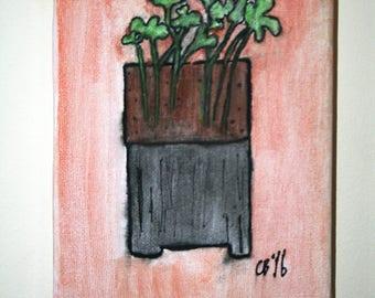 Botanical study on canvas