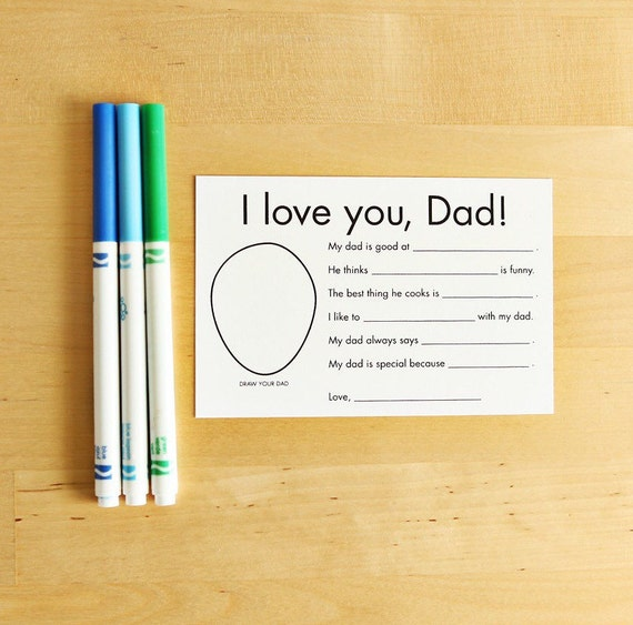 Printable Father's Day Card For Dad Gifts From Kids