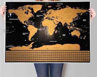 Scratch maps etsy gold and black w separated states and country flags free shipping scratch map scratch off world map poster gumiabroncs Image collections