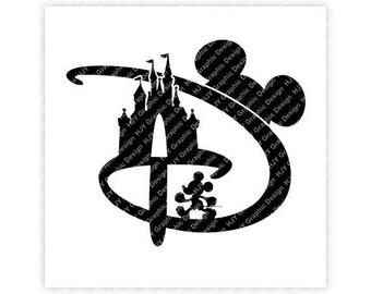 Disney, D, Castle, Mickey, Minnie, Mouse, Head, Icon, Ears, Logo, Digital, Download, TShirt, Cut File, SVG, Iron on, Transfer