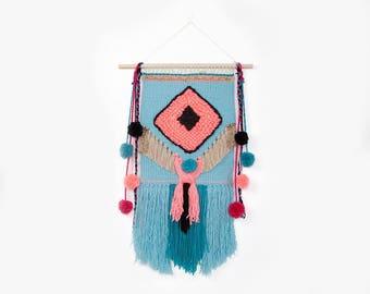 Weave wall hanging, Wall decor, Weaving, Tapestry, Fiber Art, Handwoven wallhanging, Wall Art, Handmade