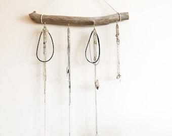 Driftwood Jewlery Organizer, Hanging Jewlery Display, Driftwood Jewlery Holder