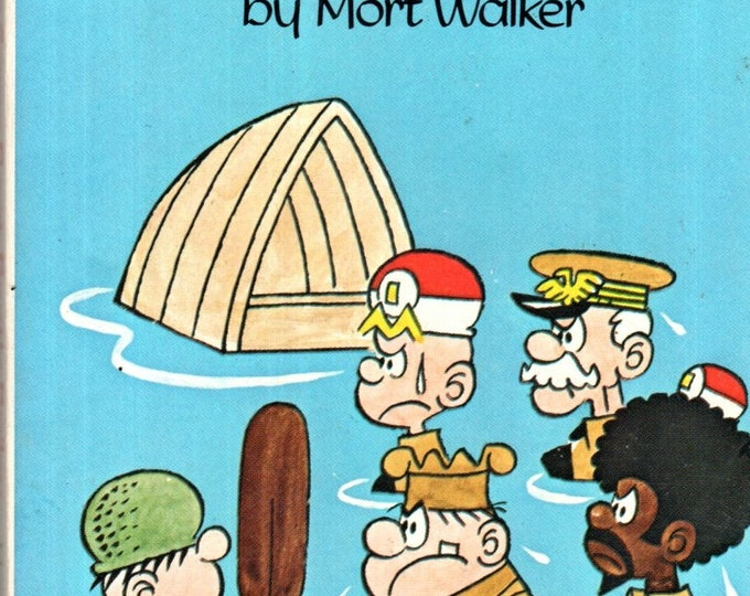 Beetle Bailey We're All in the Same Boat Paperback Tempo Books 1973