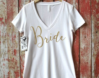 Bride Shirt. Bridal Shower Gift. Bride T-Shirt. Bride Tee. Wifey Shirt. Bride To Be. Mrs Shirt. Mrs Tee. Gift For Bride. Bachelorette Party