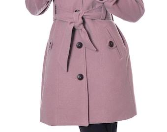 Wool Pink Coat, Winter Coat Women, Womens Wool Coat, Warm Coat, Winter Jacket, Handmade Coat, Elegant Coat, Wool Jacket, Danellys D14.07.05