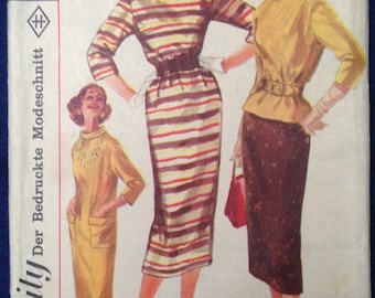 Vintage dress sewing pattern simplicity 2173 Sz (EU) 40 1950s 1960s mid century