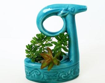 Ceramic Succulent Planter, Home Decor, Handmade Ceramic Mini Planter, Blue Pottery, Succulent Planter, Succulent Pot, Gift, Succulents pot