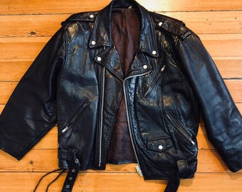 Perfecto vintage leather made in usa / size m / dark brown