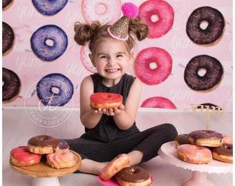 Donut Party || Do Not Grow Up || Large Pink Party Hat