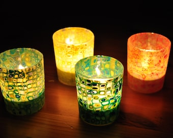 Candle holder turqoise, tealight holder, tealight lantern, votive glass, votive holder, garden decor, home deco