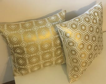 Gold & Cream Throw Pillows