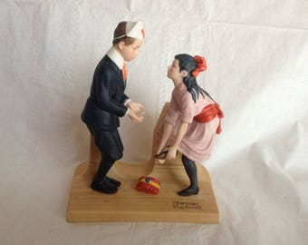 "Norman Rockwell Porcelain Figurine ""First Dance"" September 1980"