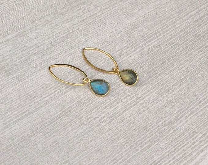 Featured listing image: Labradorite Dangle Earrings