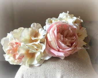 Floral Crown/ maternity prop/ mommy and me floral crown/ vintage floral crown/ flower girl floral crown/ halo