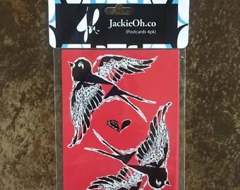Love Birds Postcard Pack