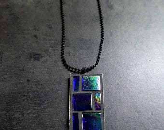 Mosaic pendant etsy mosaic pendant with iridescent glassmosaic popart pendant mosaic necklace free shipping aloadofball Choice Image