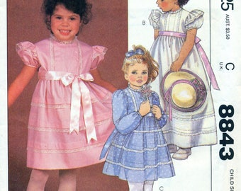 McCall's 8843 HELEN LEE DESIGN Girl's Party Dress Size 6 Special Occasion Gown