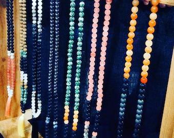 108 Bead Stone Necklace