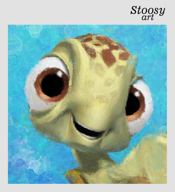 squirt finding nemo print nautical painting nursery wall decor