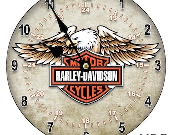 MOTORCYCLE Motorbike LARGE Wall Clock Large 30CM /11.81in/ MDF Can be personalised