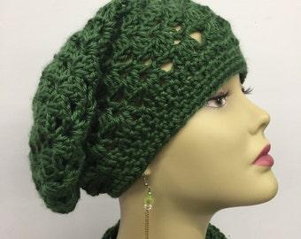 St. Patrick's Day Crochet Slouchy Hat
