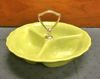 1960 Retro 3-Compartment Entertaining Bowl by Lane & Co.