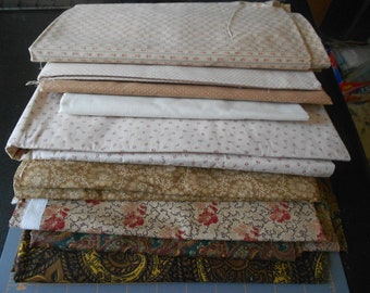 Large selection of 100% cotton material Beige and brown tones