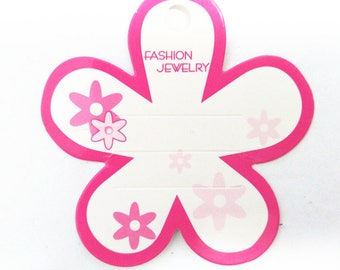 50pc flower shape  display cards for hair clips-7831B