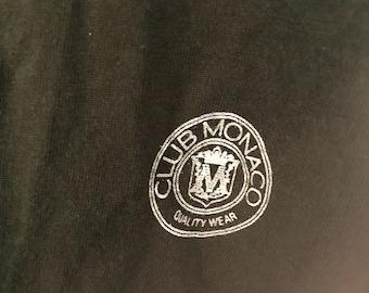 RARE vintage club Monaco tee t shirt green soft