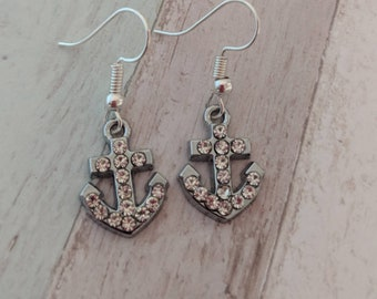 Anchor earrings, nautical earrings, sailor earrings, summer earrings, beach earrings, boat earrings, sailor gifts, gifts for her,
