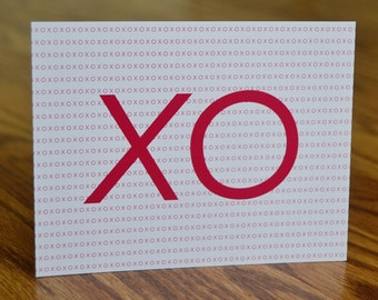 XO / Always & Forever Stationery / Valentine / Note Card - Set of 12