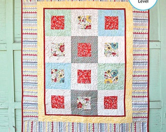 FREE SHIPPING Adornit Chamberry Hip to be Square Fabric Quilt Kit 14015A