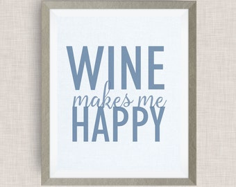wine makes me happy, Option of Real Gold Foil